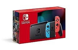 Console Nintendo Switch Neon Autonomie: varie en fonction des conditions d'utilisation, de 3 heures (pour un jeu comme The Legend of Zelda : Breath of the Wild) à plus de 6 heures La boite est composée de : 1 console avec 1 manette Joy-con droite rou...