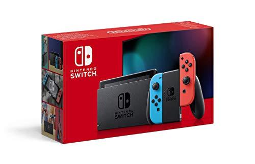 Nintendo Switch avec paire de Joy-Con Rouge Néon et Bleu Néo