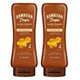 Hawaiian Tropic SPF 4 Sunscreen, Protective Dark Tannning Sunscreen Lotion 8 Ounces Twin Pack