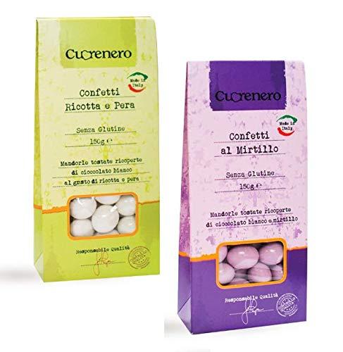 Cuorenero Confetti Senza Glutine: 1 x Ricotta e Pera, 1 x Mirtillo - 2 x 150 Grammi