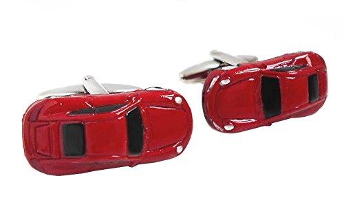 Unbekannt Manschettenknöpfe sportliches Auto Fahrzeug rot + Silberbox