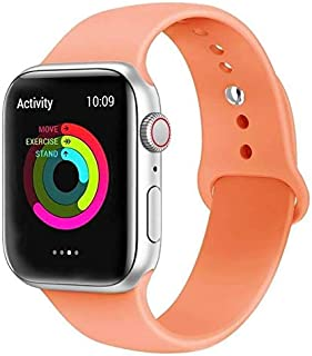 Pokanic Sport Bands Strap Soft Silicone Quick Release Replacement Wristband iWatch 38mm 40mm 42mm 44mm Compatible with Apple Watch Series 5/4 / 3/2 / 1 42mm/44mm - M/L