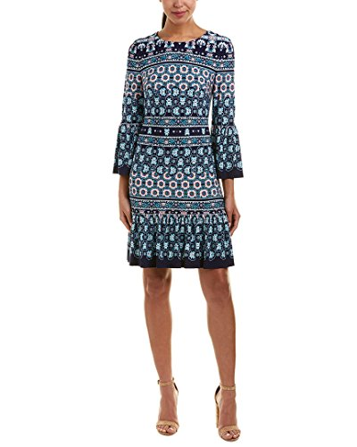 Eliza J Women's Shift Dress with Bell Sleeves, Blue, 12