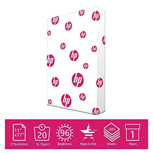 HP Printer Paper 11x17 paper MultiPurpose 20 lb 1 Ream 500 Sheets 96...