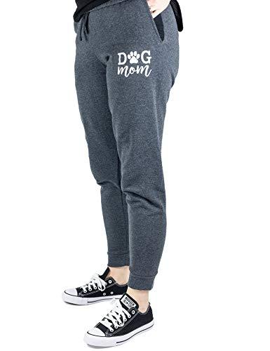 B-Wear Sportswear Dog Mom Puppy Lover Pet Cute Cozy Lounging Sweatpants Joggers for Women Black Heather