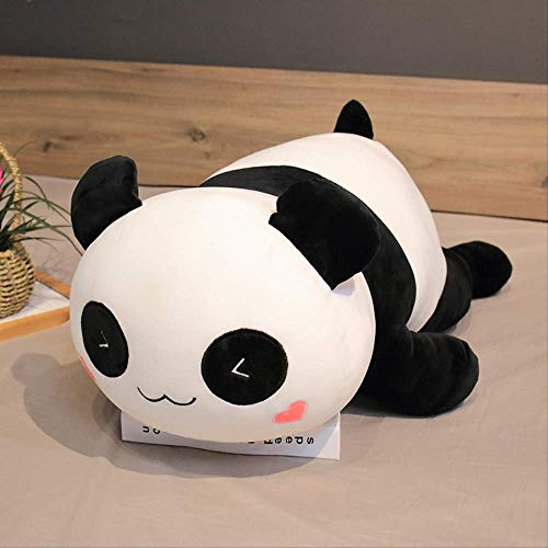 Knuffel, Kawaii Liggende Panda Beer Pluche Zacht Kussen Leuk Knuffel Speelgoed Pop Mooi Speelgoed Voor Kinderen Meisjes Valentijnsdag Verjaardagscadeau 30cm glimlach