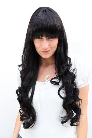 Lange locken schwarze haare Schwarze lange