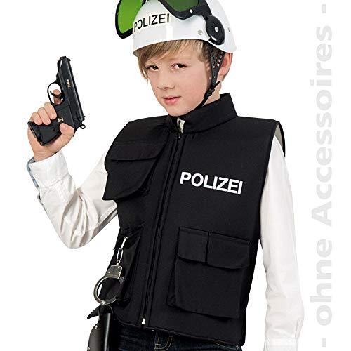 WOOOOZY Kinder-Weste Polizei mit Taschen, Gr. 128