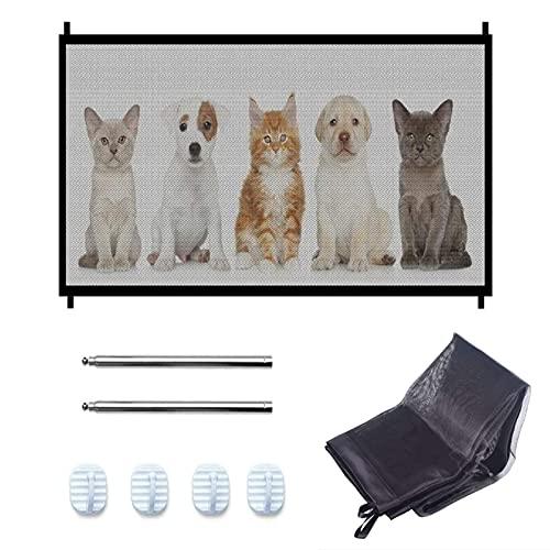 Portatile Pieghevole Dog Barriera Barriere cani Cancello Sicurezza Rete di Isolamento Animali Domestici Rete Pieghevole Sicura da Attaccare Ovunque Recinzione di Sicurezza Senza Odori per Cani e Gatti
