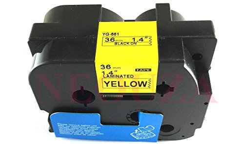 NEOUZA Compatible for Brother P-touch TZe Tz Black on Yellow label tape 6mm 9mm 12mm 18mm 24mm 36mm all size(TZe-661 36mm)