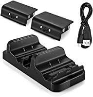 Xbox One Battery Charging Dock, Dual Charger Station with 2 Rechargeable Batteries and USB Cable For Xbox One One S...