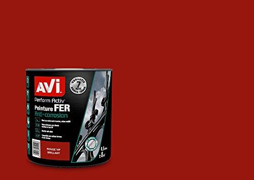 AVI - PERFORM ACTIV FER - Peinture Anti Corrosion - Brillant - Rouge Vif Brillant