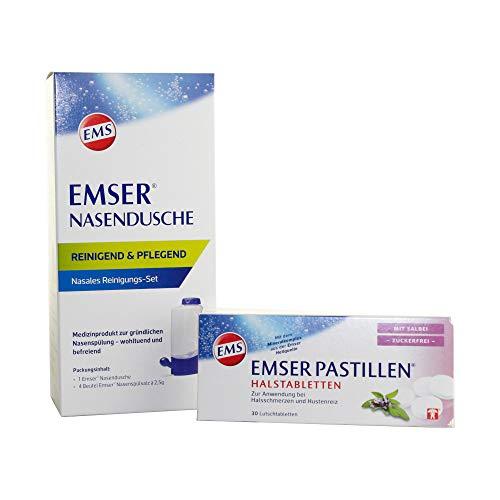 EMSER Nasendusche Set mit Emser Pastillen mit Salbei 30Stk.