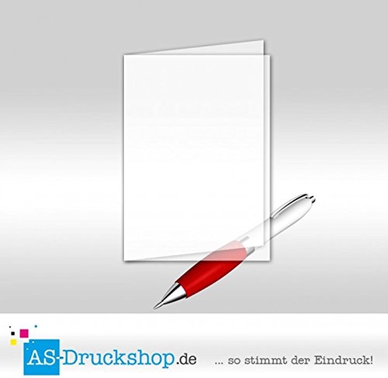 Faltkarte Doppelkarte aus Transparentpapier - Weiss 50 Stück DIN B6 B0794XSPWR   | Produktqualität