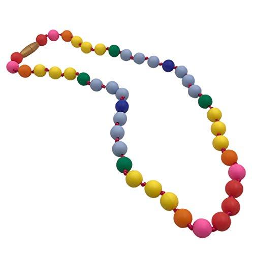 Coskiss Teether - Collier d'allaitement en silicone Rainbow pour maman et bébé - Sans BPA - Sans latex (Collier)