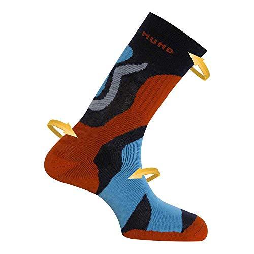 Mund Socks TRAMUNTANA Trekkingsocke Halbkompressiv, antibakteriell und therapeutisch, blau, EU 42-45