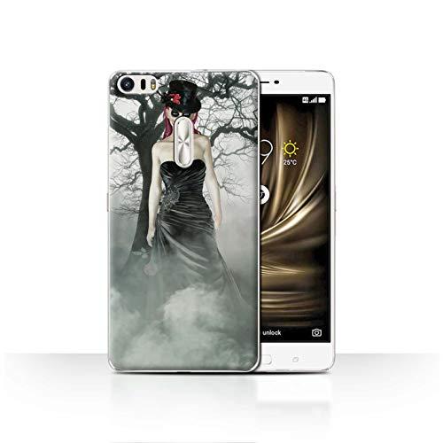 Stuff4® Phone Case/Cover/Skin/ASUS-CC/Day of The Dead Festival Collection Asus Zenfone 3 Ultra ZU680KL Zwarte jurk vrouw