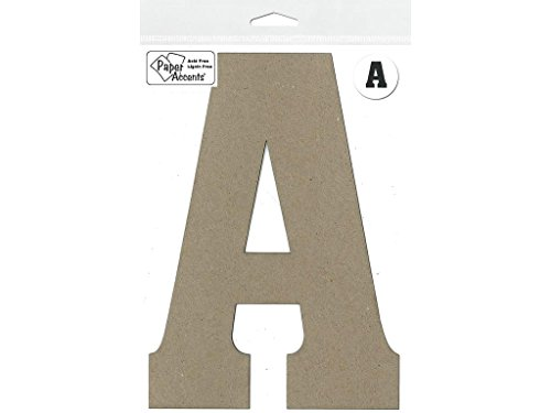 "Accent Design Paper Accents Chip Letter 8"" A 1pc ChipLet 8"" A NAT"