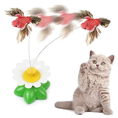 Dynamicoz Il Gatto Interattivo Gioca La Palla Che Si Muove Irregolare Automatica Allegata con Le Piume/Uccelli Giocattoli per Gatti/Gattino
