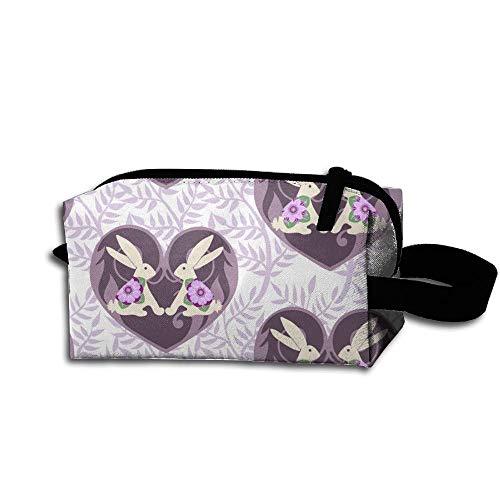 Travel Makeup Sweet Bunny Love Lavender Beautiful Waterproof Cosmetic Bag Quick Makeup Bag Pencil Case