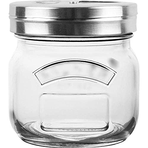 Spice opslag glazen kruiden pot barbecue huishoudelijke keuken zout jar suiker jar poreuze verstelbare kruidenfles…