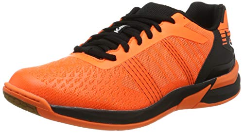 Kempa Attack Three Contender, Zapatillas de Balonmano Unisex Adulto, Naranja (Orange Frais/Noir 06), 43 EU