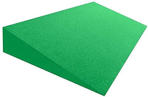 snoozo XXL Keilkissen Matratzenkeil Matratzenerhöhung Hochlagerungskeil 50 x 100 x 15/1 cm - Raumgewicht RG40