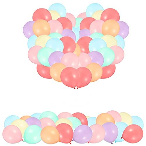 ADAKEL Palloncino Pastello in Lattice 100 Pezzi, Palloncini Opachi Macaron Colorati Pastello Decorazione Festa di Compleanno Pastello Macaron