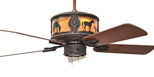 KIVA Western Sheridan Bronze Ceiling Fan