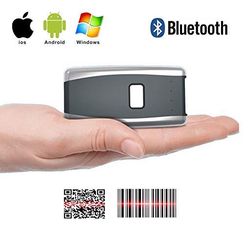 OMZBM Drahtloser Bluetooth-Taschenscanner Geschäft, Supermarkt, Lager, Logistik Barcode QR Code Scanner Kompatibel Mit Windows Android Ios Systemen