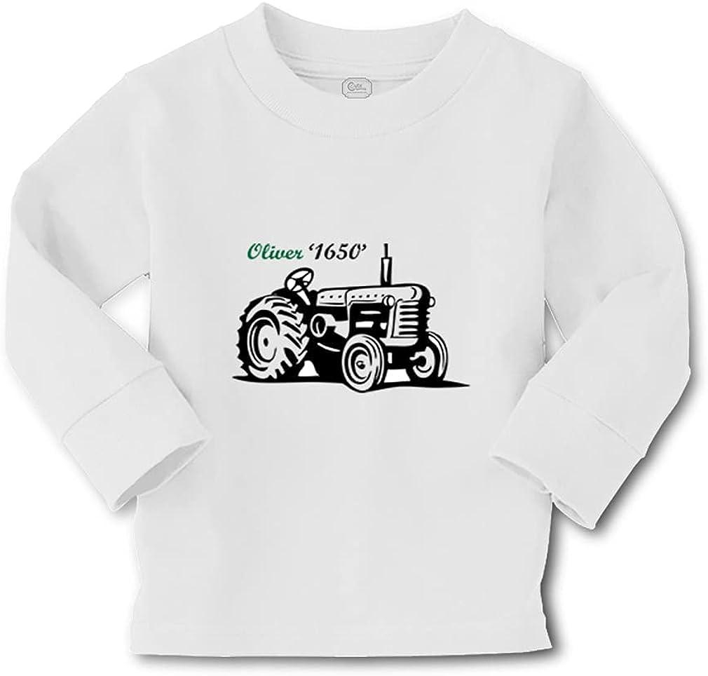 Custom Kids Long Sleeve T Shirt Old Tractors Funny Humor Boy & Girl Clothes