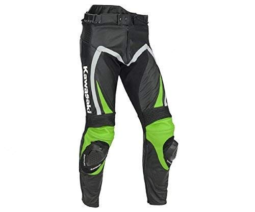 Kawasaki Ninja Lederhose grün/schwarz/grau Größe 2XL