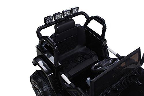 RC Auto kaufen Kinderauto Bild 3: Actionbikes Motors Kinder Elektroauto Offroad Jeep 2 x 35 Watt (Schwarz)*