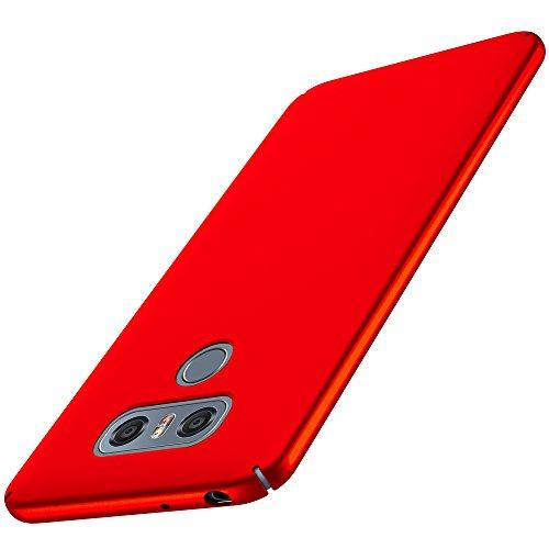 Anccer Coque LG G6 [Serie Mat] Resilient Conception Ultra Mince et Absorption des Chocs Coque pour LG G6 [Serie Mat] (Rouge Lisse)