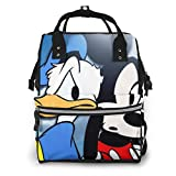 Donald Duck and Mickey Multifunción Impermeable Mochila de Viaje de Maternidad Pañales Bolsas Cambiantes