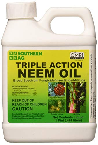 Southern Ag 08722 Triple Action Neem Oil Fungicide Insecticide Miticide, Brown