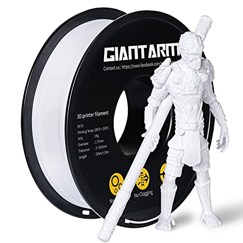 PETG Filament per Stampante 3D, GIANTARM PETG Filament 1.75mm, Dimensional Accuracy +/- 0.2mm, 1kg, Bianco