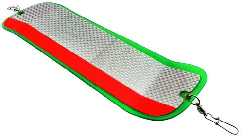 Gibbs-Delta High Liner Flasher, Green/Red Stripe