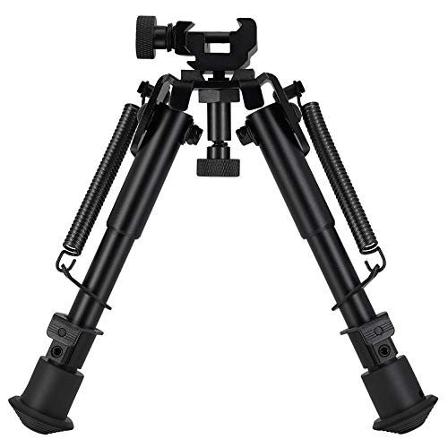6-9 Inches Tactical Bipod & 360° Picatinny Mount Adapter. All