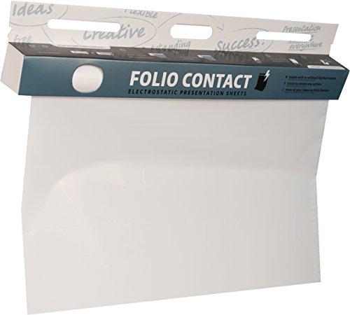 Folio Contact Whiteboard: die patentierte elektrostatische Folie - wiederbeschreibbar, haftet ohne Hilfsmittel auf nahezu allen Oberflächen