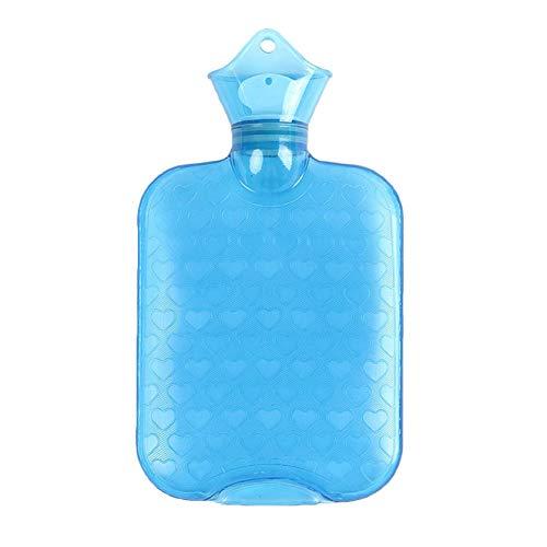AOXING Botella de agua caliente de goma clásica de 1000 ml hecha de goma natural y lujosa funda de forro polar de felpa sintética para dolores, dolores y lesiones deportivas, la mayor calidez (BU)