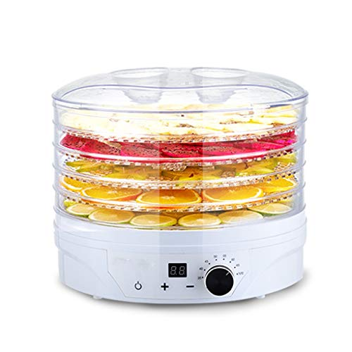 Affordable Premium Food Dehydrator Machine, Pet Food Compact Intelligent Dryer 5 Layer Household Fru...