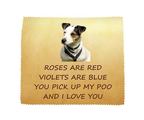 Jack Russell Terrier 'I Love You' microvezel bril doek leuk nieuwigheid geschenk van de hond