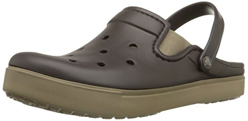 Crocs crocs Unisex-Erwachsene Citilane Clogs, Braun (Espresso/Khaki 22y), 33/34 EU