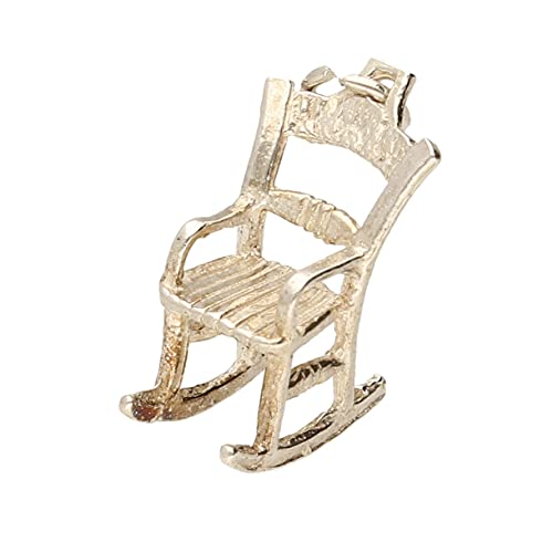 Colgante para silla mecedora de plata de ley (15 x 18 mm) | Jollys Jewellers