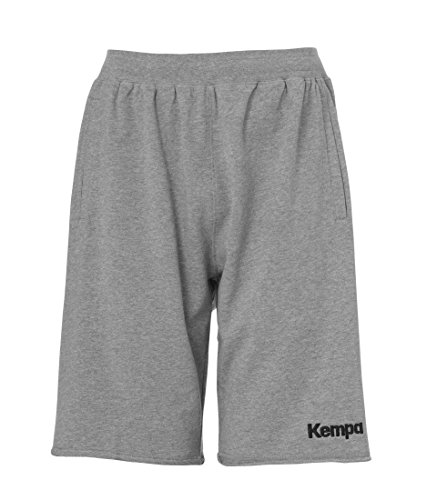 Kempa Kinder Core 2.0 Sweat Shorts, Dark grau Melange, 140
