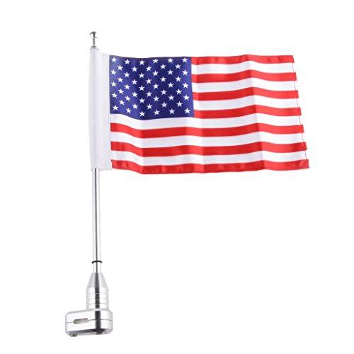 Amerikanisch USA-Flagge mit Halter Halterung auf Motorrad Gepäckträger Montieren Pole für Passend für Harley-Motorrad XL883 1200 X48
