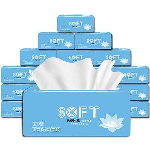 Yangangjin Toiletpapier, natuurlijke bamboepoep, cosmeticatoeken, papieren zakdoeken, huishouden, servetten toiletpapier, 30 pak 3 lagen papieren doeken, toiletpapier