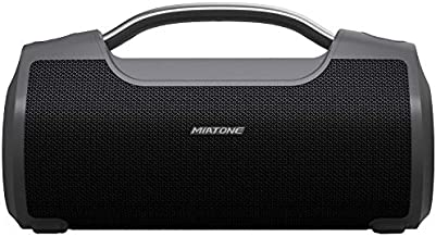 MIATONE 60W Portable Speaker with Titanium Subwoofer, Wireless Outdoor Waterproof Big Loud Bluetooth Speakers for Camping (Black)