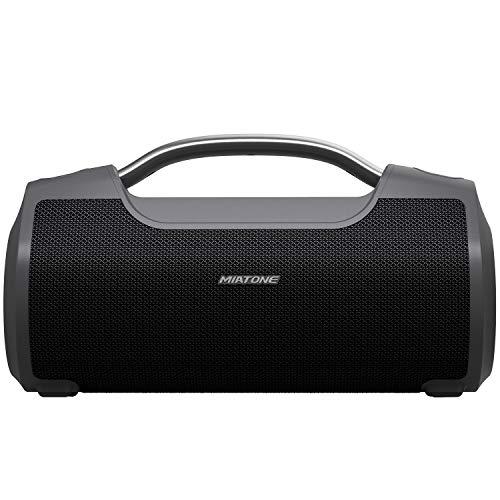 MIATONE 60W Portable Speaker with Titanium Subwoofer, Wireless Outdoor Waterproof Big Loud Bluetooth...